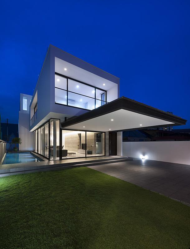 maison cubique vitree