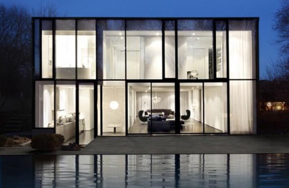 Maison minimaliste design et vitr e possible 11 messages for Maison minimaliste bois