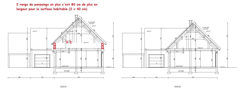 Notre premi re maison nouveau plans comble r solu 63 - Largeur couloir maison ...