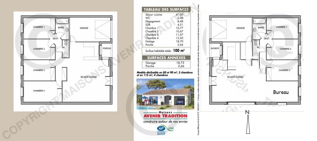 maison de plain pied de 104m2 demande d 39 avis 33. Black Bedroom Furniture Sets. Home Design Ideas