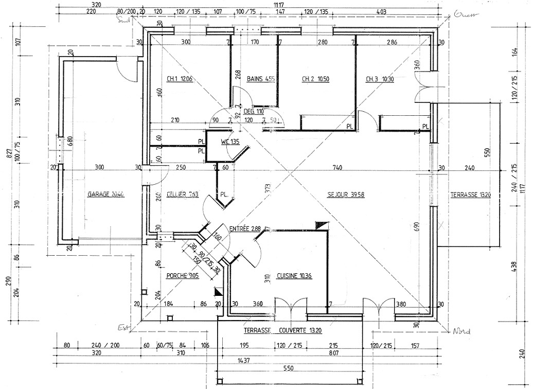 Maison pp 100m projet r am nagement int rieur et for Plan amenagement interieur maison