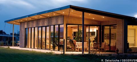 Maison cam l on passive toiture v g talis e yvelines - Maison avec toit une pente ...