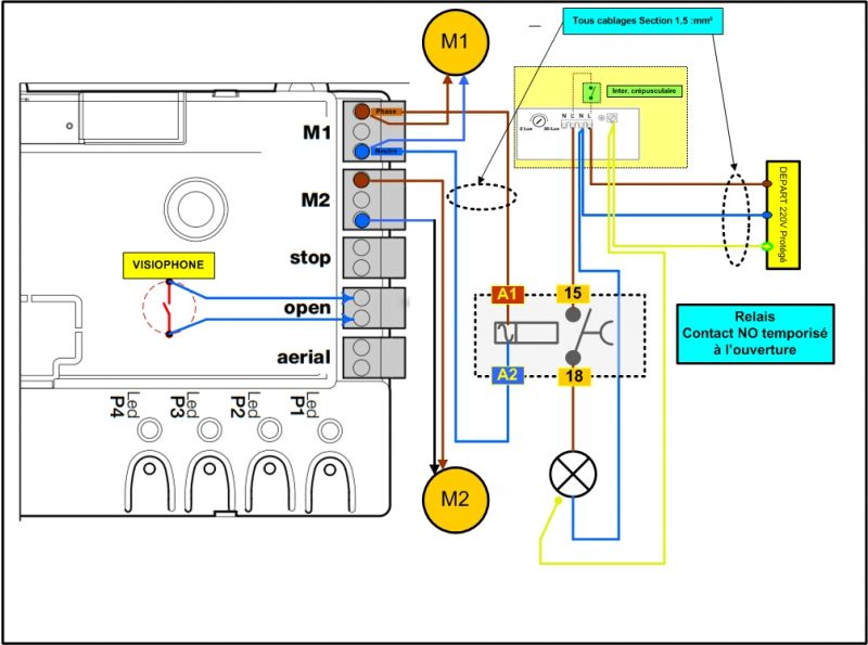 cablage relais pour alimentation eclairage 17 messages. Black Bedroom Furniture Sets. Home Design Ideas