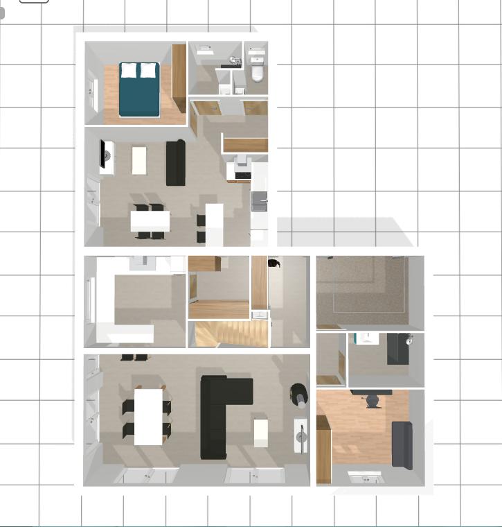 plan maison avec appartement indépendant