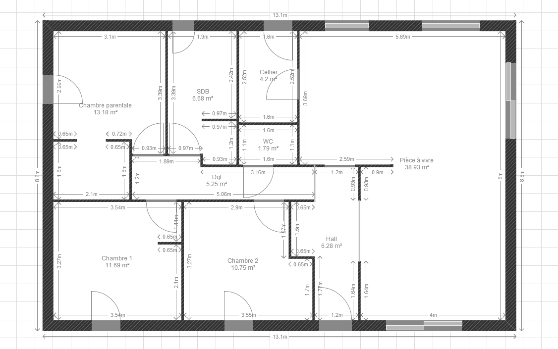 Plan de maison plain pied 100m2 kq67 jornalagora for Plan maison contemporaine 100m2