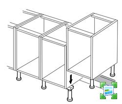 Montage pied faktum pour un retour de cuisine 10 messages - Pied reglable pour meuble cuisine ...