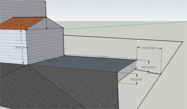 mur de sout nement pour dalle b ton pour carport. Black Bedroom Furniture Sets. Home Design Ideas
