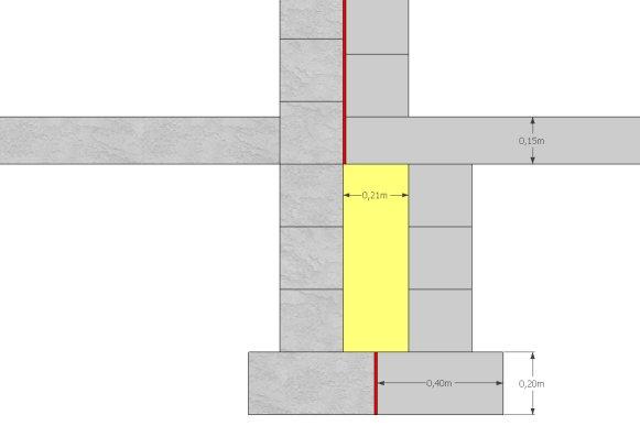 cot fondation pour le mur contre la maison ce schma vous semble t il correct gris marbr maison existante rouge polystyrne 1cm - Fondation Pour Un Garage En Parpaings