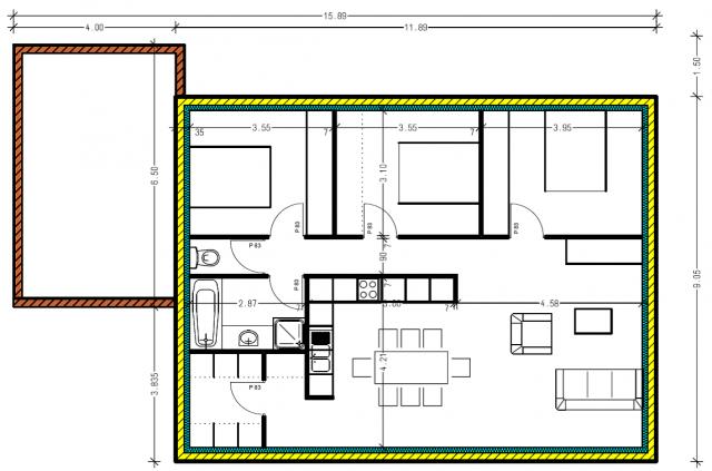oui je sais la rt cuest la surface habitable en ouverture mais comme cuest pas le plan dfinitif. Black Bedroom Furniture Sets. Home Design Ideas