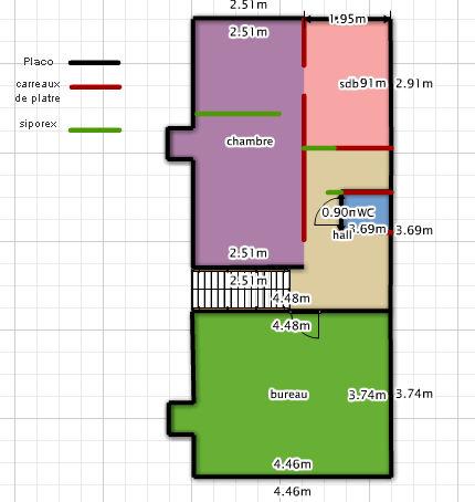 nouvelle implantation avec cloison beton cellulaire. Black Bedroom Furniture Sets. Home Design Ideas