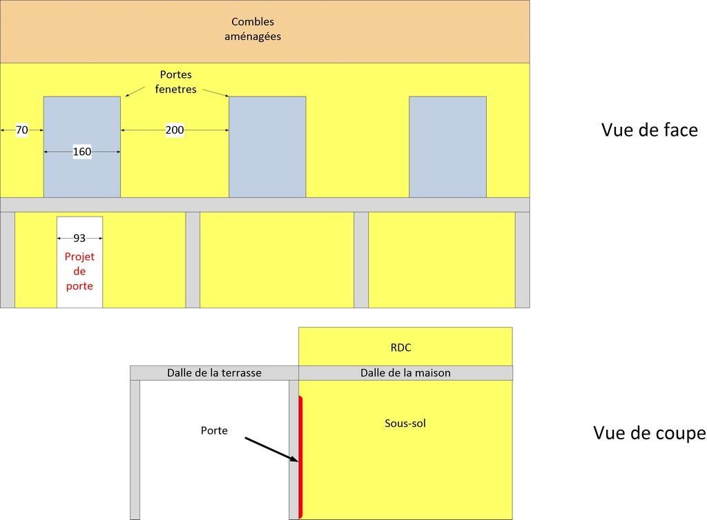 voila un plan qui peut aider luchange with ouvrir une porte dans un mur porteur. Black Bedroom Furniture Sets. Home Design Ideas