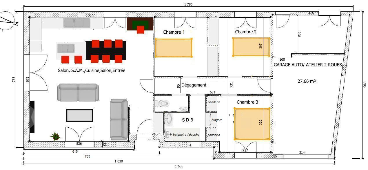petite maison 3 chambres garage cellier rt2012 46 messages page 3. Black Bedroom Furniture Sets. Home Design Ideas