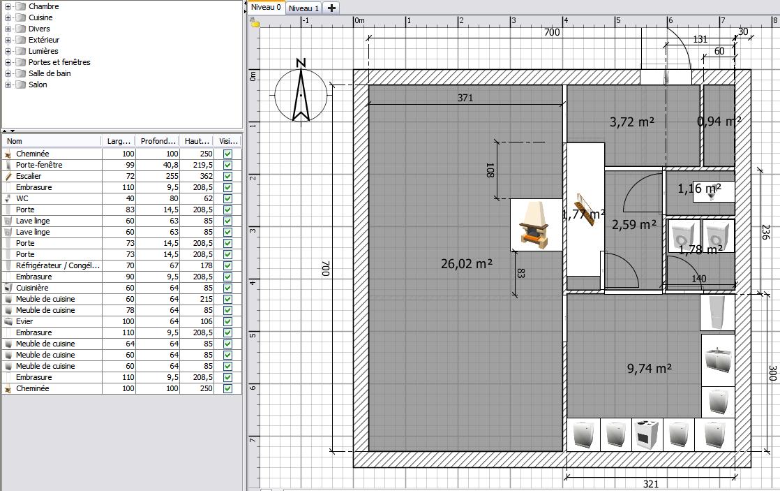 plan maison carree