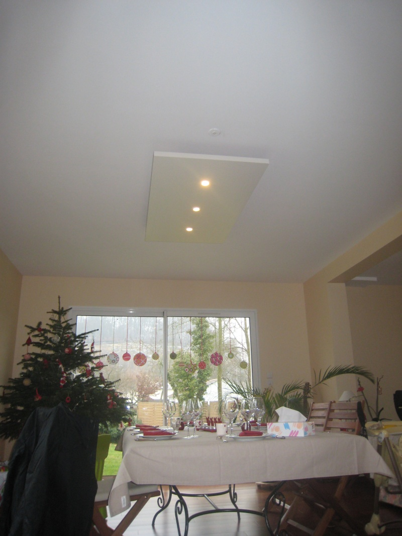 Eclairage plafond cuisine led suspendu au plafond for Spot faux plafond salon