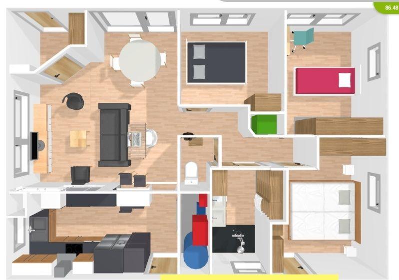 plan de maison 8m x 15m