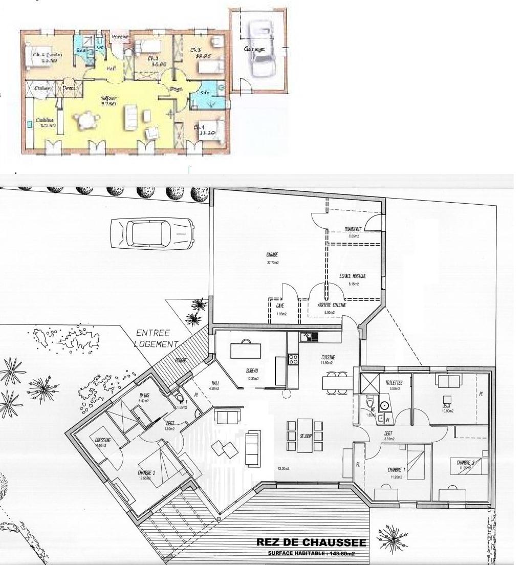 plan maison plain pied y 79e06108e78e