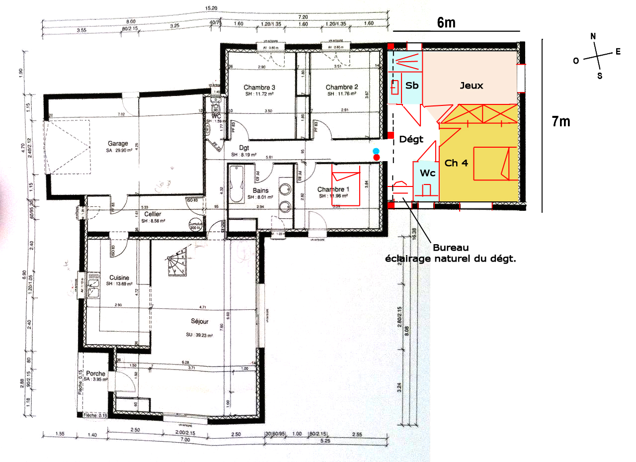 Plan d 39 agrandissement 42m2 23 messages for Extension maison 25m2