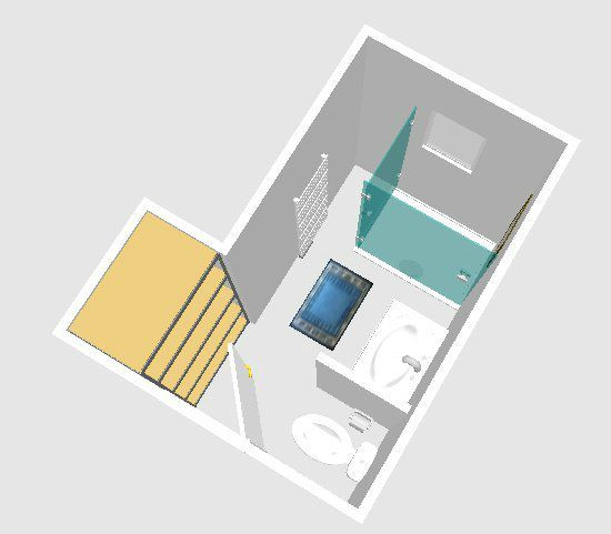 Implantation salle d 39 eau 11 messages for Plan amenagement salle de bain 6m2
