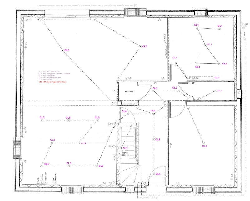 Plan architectural for Courant architectural