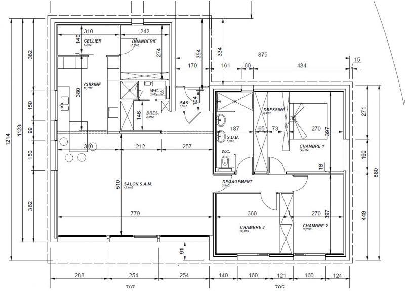 Améliorations De Ce Plan Maison Plain Pied De 120m2 35