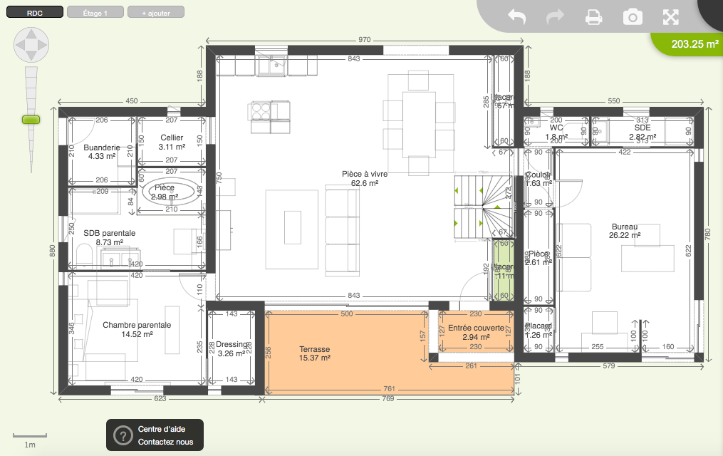 plan maison plain pied 200m2 perfect maison avec plan en With plan de maison 200m2
