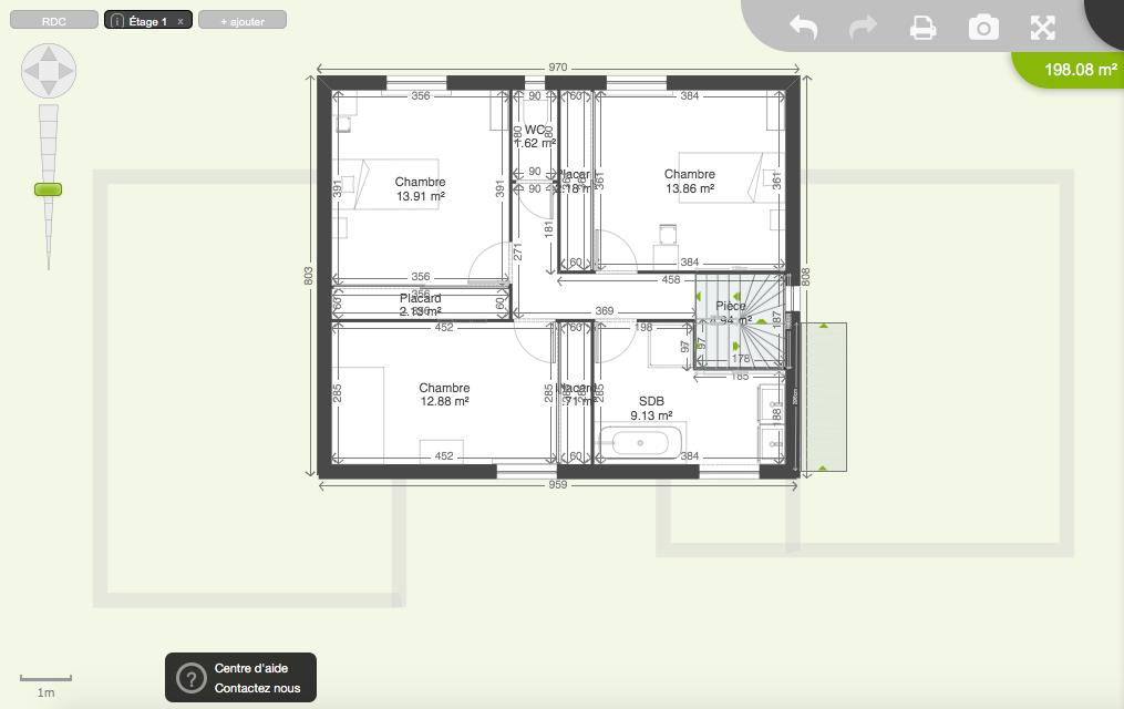 Plan de notre future maison de 200 m2 17 messages for Plan maison cubique 150 m2