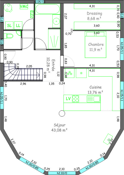 Plan d 39 habitation 108m r 1 143 messages page 4 for Plan habitation