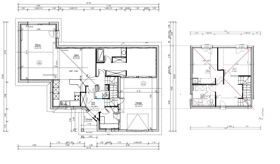 Plan maison r 1 120m2 rt2012 254 messages page 17 for Plan maison 120m2