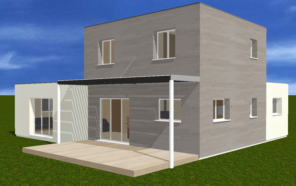 Plan maison r 1 120m2 rt2012 254 messages for Plan maison 120