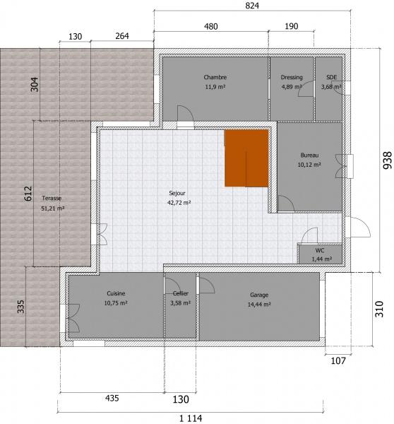 Plan maison avec cote cliquer pour voir le plan with plan for Plan de maison cote