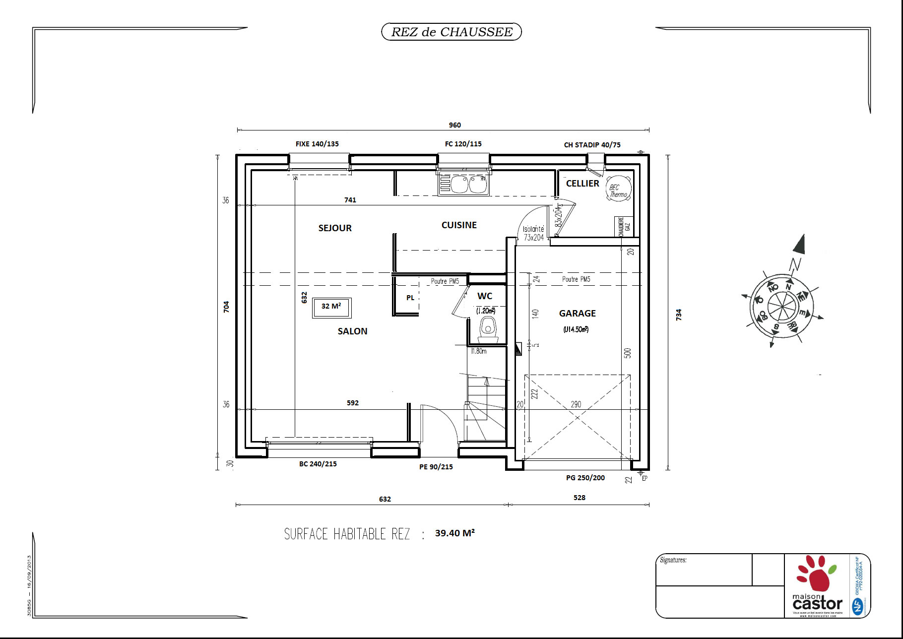 Plan maison r 1 de 92m2 13 messages for Plan maison un etage