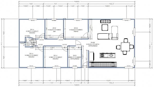 Plan maison 117m2 17 messages - Plan maison sud ouest ...