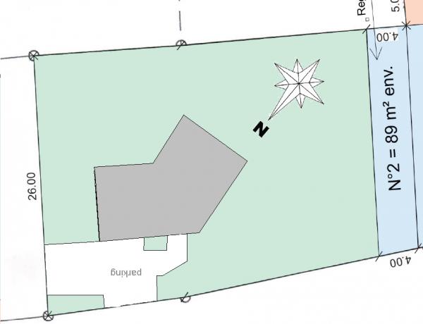 plan maison en v 130m2