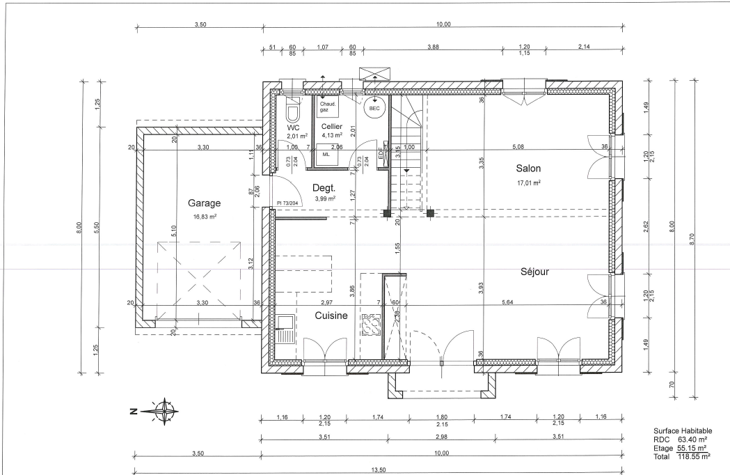 plan maison etage 130m2 lk78 jornalagora. Black Bedroom Furniture Sets. Home Design Ideas
