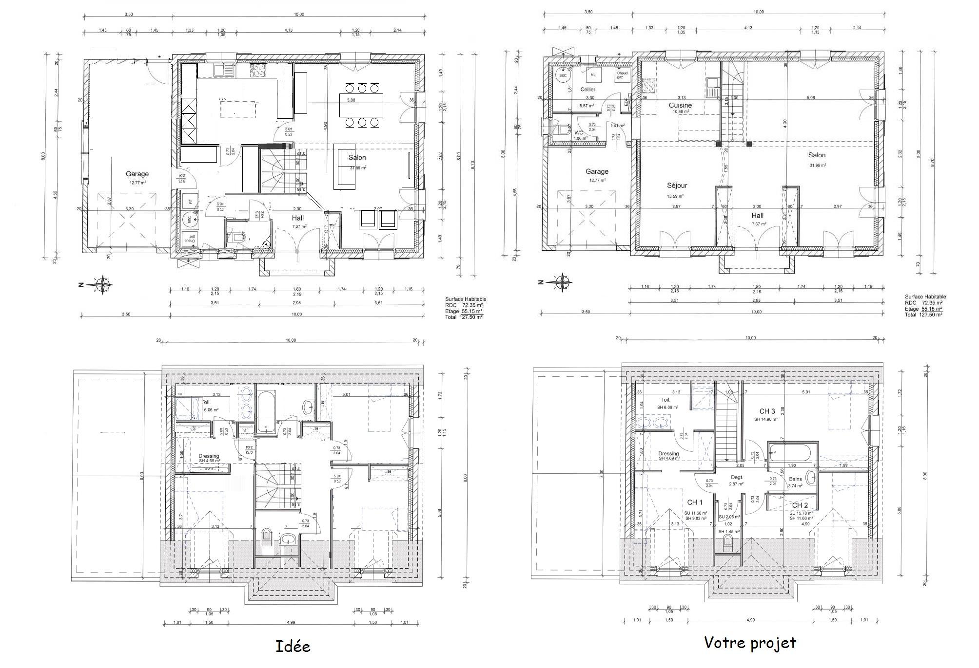 plan maison 130m2 131 messages page 5. Black Bedroom Furniture Sets. Home Design Ideas