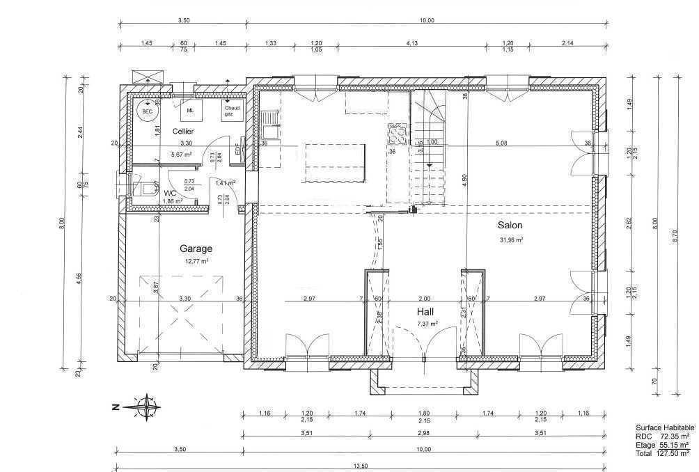 plan maison 130m2 131 messages page 4. Black Bedroom Furniture Sets. Home Design Ideas