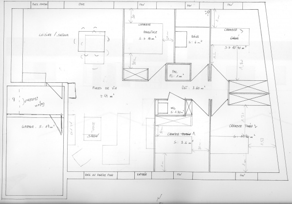 Plan De Maison Mitoyenne Interesting Plan De Maison Mitoyenne With