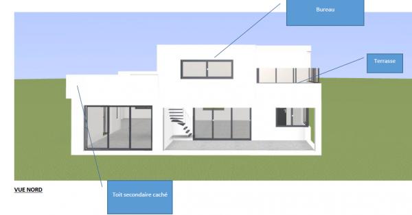 Plan maison avec bureau et balcon l 39 tage 34 messages - Maison avec balcon terrasse ...