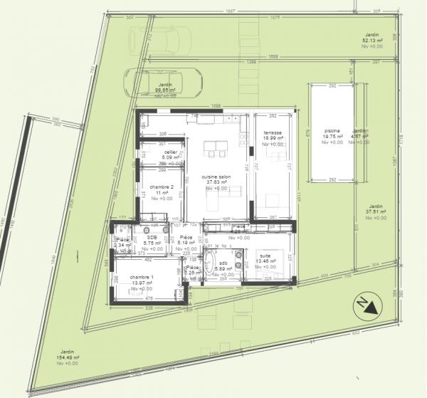 Id e plan maison en longueur avie home - Idee plan maison en longueur ...
