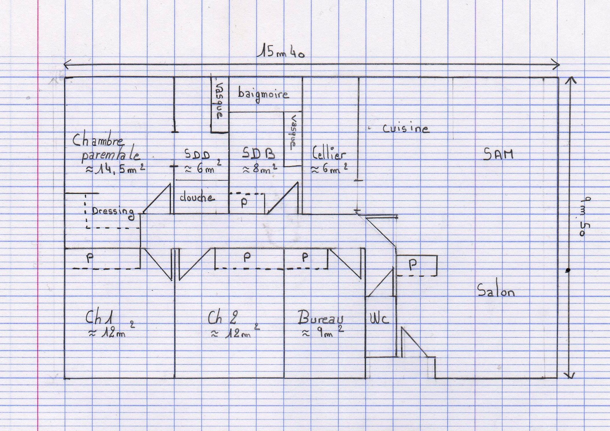 Plan maison gratuit 45m2 for Plan gratuit