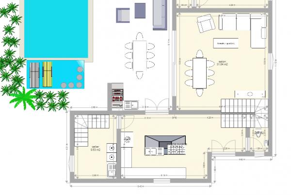 Plan maison a étage 150m2 habitable besoins d'avis - 25 messages
