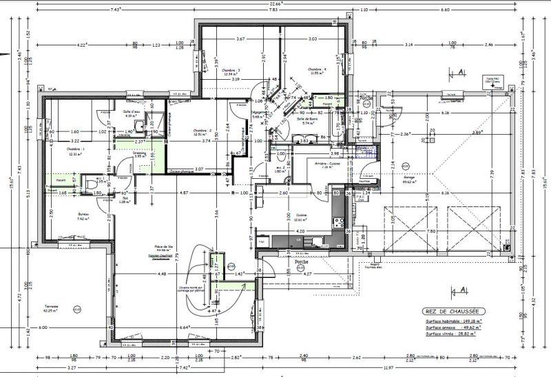 avis sur plan maison plain pied 150m sur terrain 1000m 36 messages. Black Bedroom Furniture Sets. Home Design Ideas