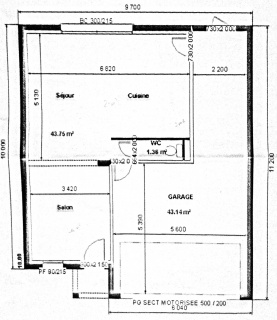 plan maison 8 metres large