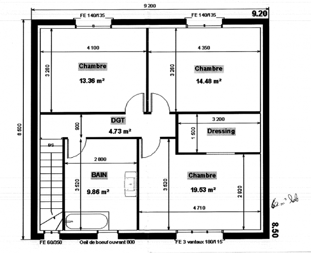 Plan maison en longueur 36 messages page 3 for Plan maison sud