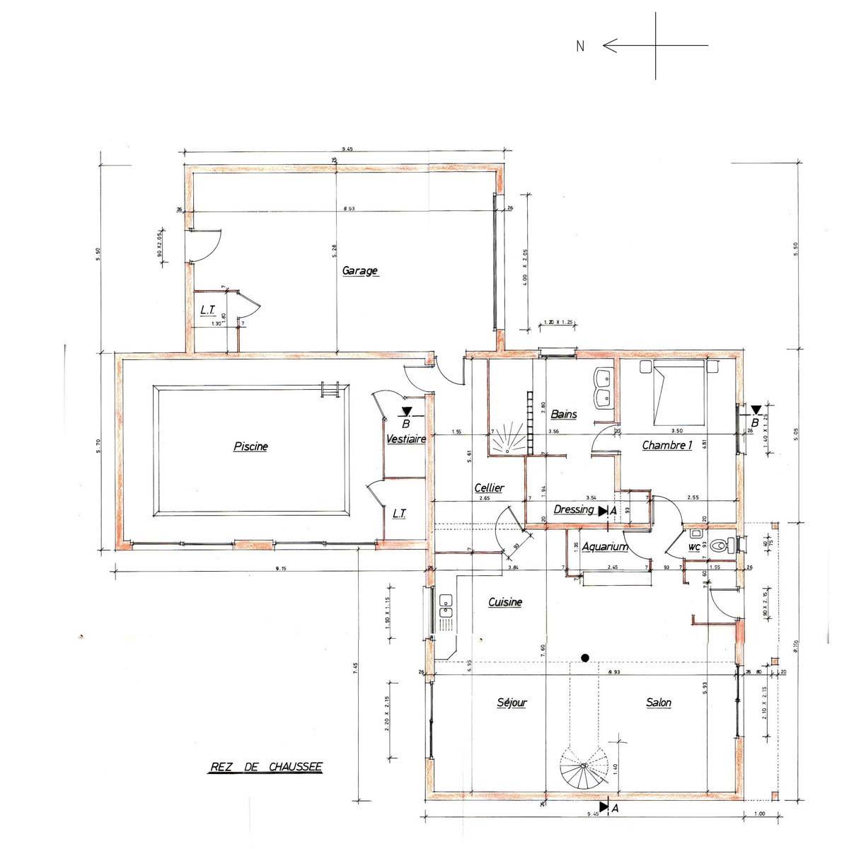 plan maison orientation sud