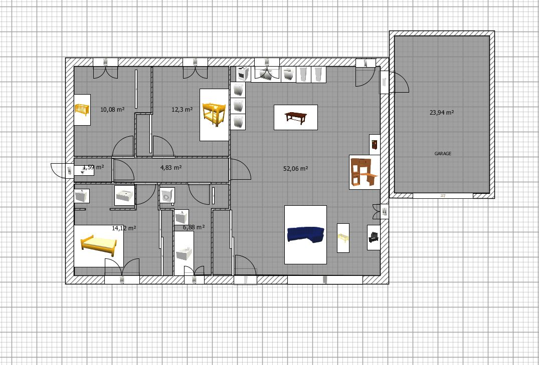 Plan maison plein pied 100m2 rectangle 102 messages page 4 for Plan de maison plain pied 100m2