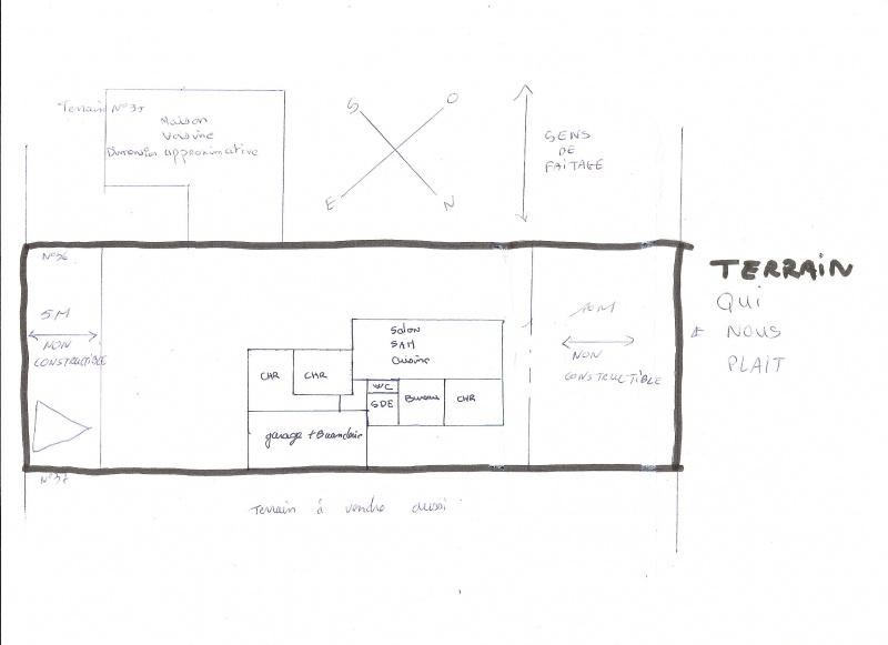 plan de maison terrain etroit