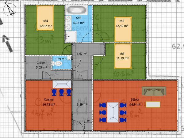Plan Pour Maison Plain Pied Entre  Et M   Messages  Page