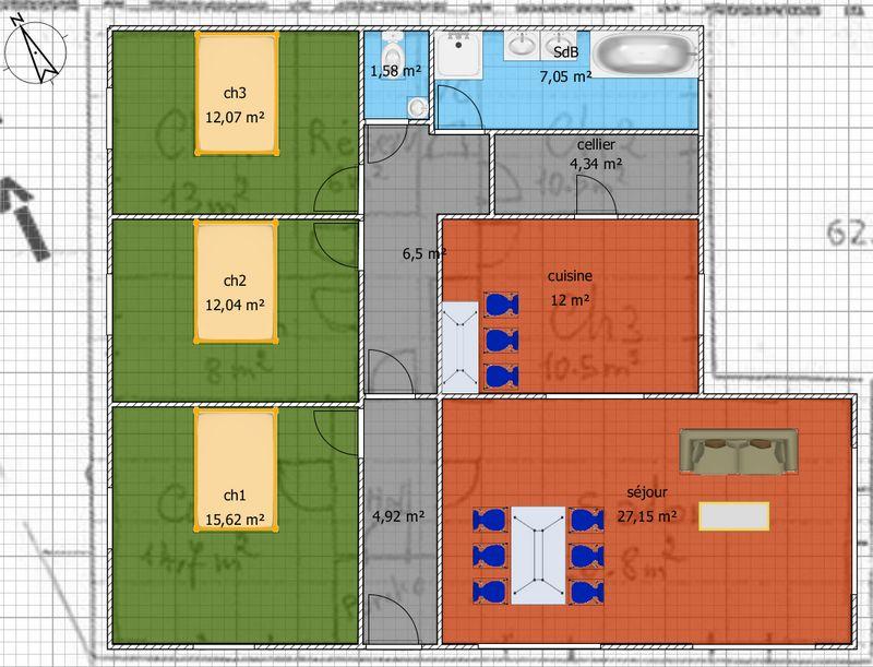 Assez Plan pour maison plain pied entre 100 et 110m2 - 370 messages - Page 4 EB13