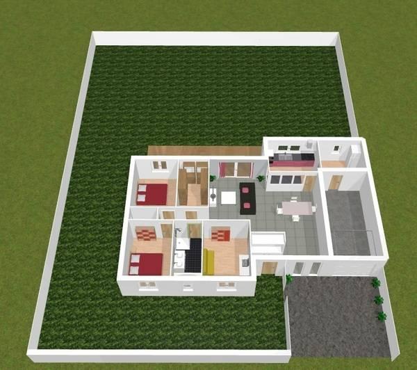 plan de maison plain pied 104m2 33 24 messages. Black Bedroom Furniture Sets. Home Design Ideas